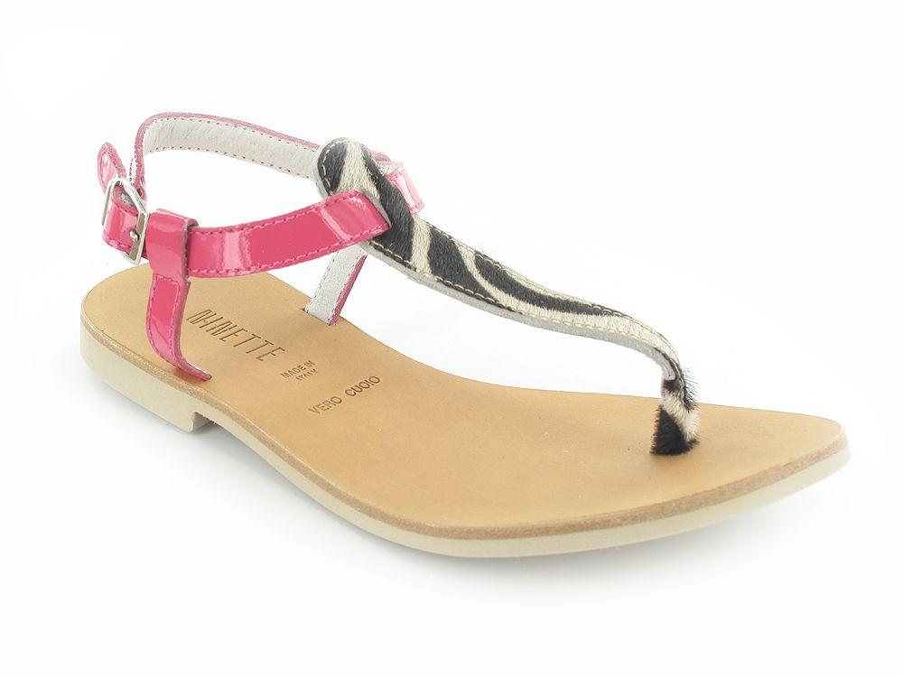 Ninette pink zebra sandals #LutinBotte #Ninette #pink #zebra #sandals #girlshoes