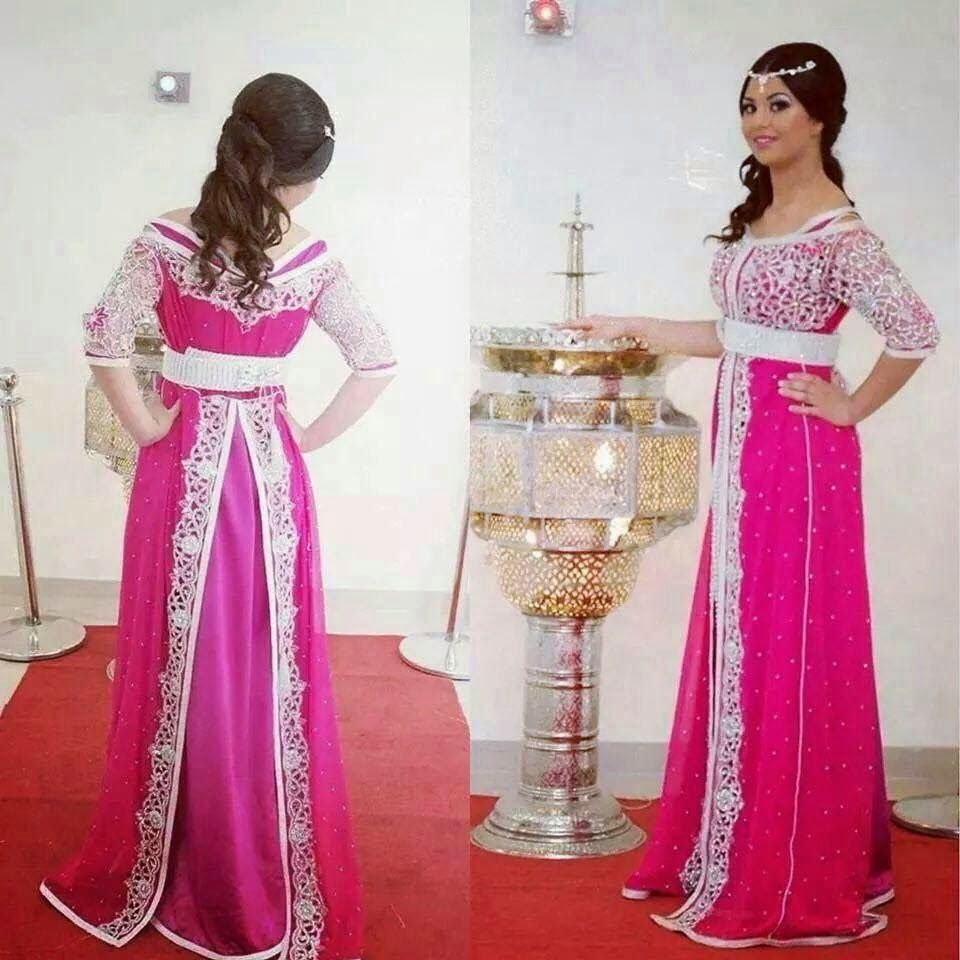 Caftan mariage a bordeaux robe de mariage marocain for Robe de mariage orientale