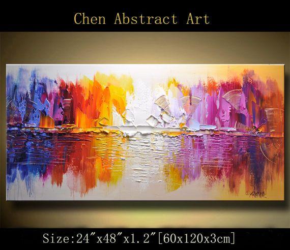 Pintura abstracta de muro murales de decoración para el
