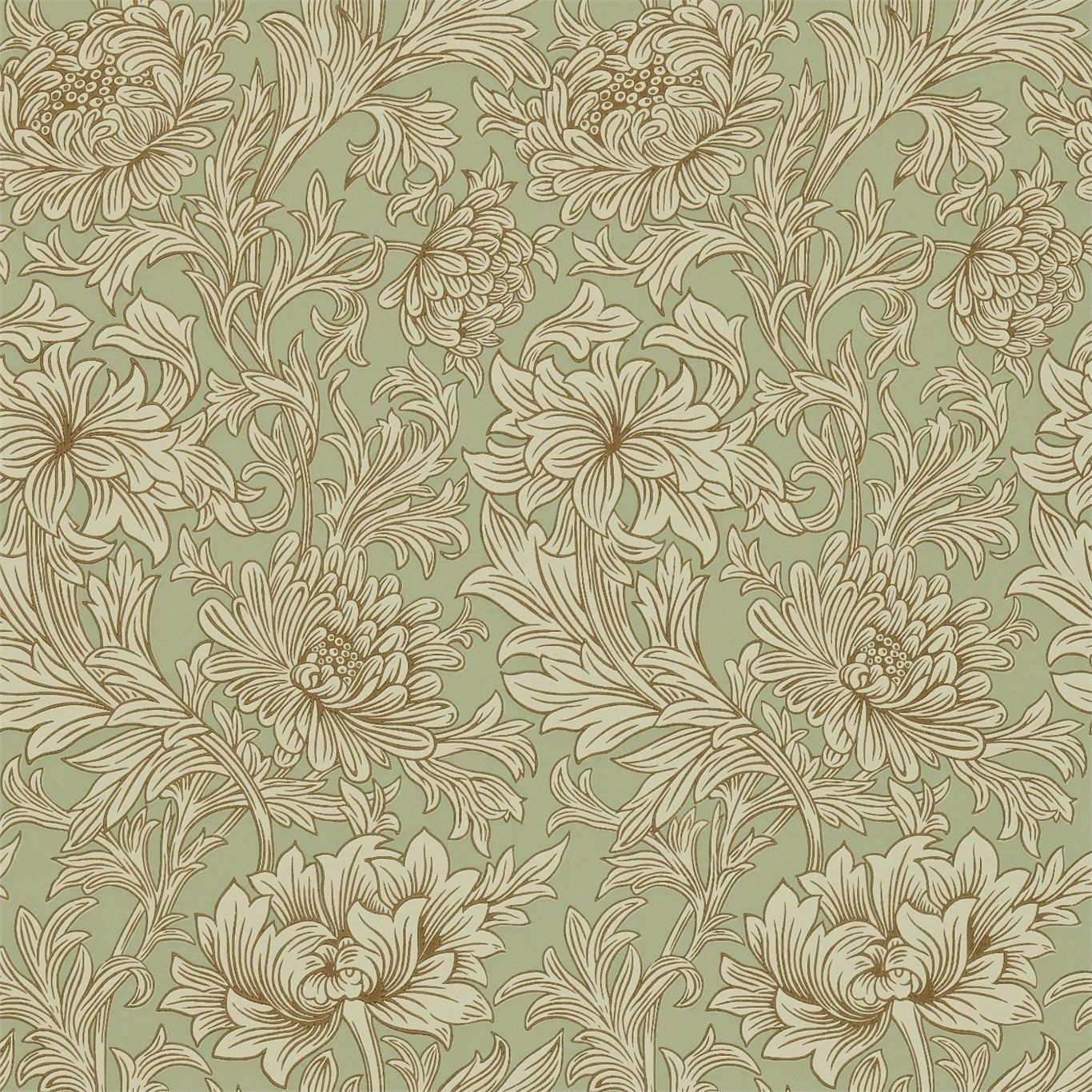 Morris & Co Chrysanthemum Toile Wallpaper William