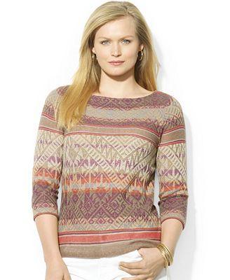 Lauren Ralph Lauren Plus Size Fair-Isle Sweater   knitting nordic ...