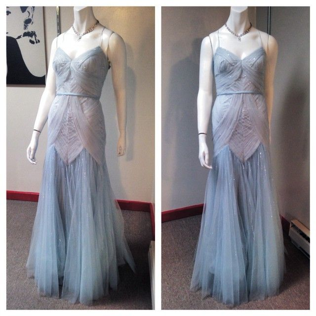 Beautiful ice blue gown. Only 1 more left! We're open 10-6 today. #prom #prom15 #prom2015 #iceblue #asiyes #mignon