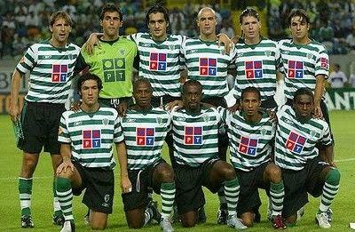 Sporting 2004-05  Pedro Barbosa,Ricardo,Custódio,Hugo,Polga,MIguel Garcia Hugo Viana,Paíto,Douala,Liedson,Tinga.