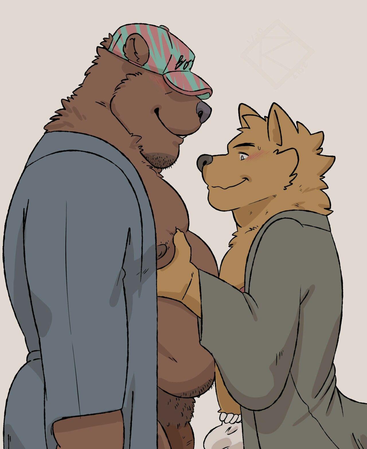 Cheeky yet beautiful gay bear