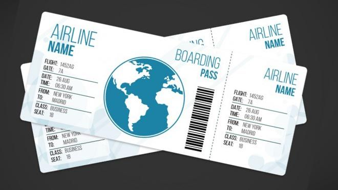 airplane-ticket-template_23-2147519025 Стоки Pinterest Ticket