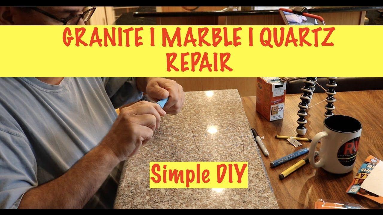 Granite I Marble I Quartz Repair E124 Youtube Countertop Repair Repair Quartz Countertops