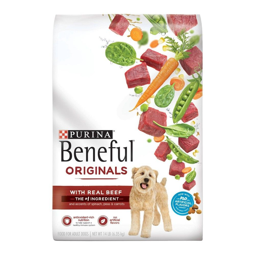Purina Beneful Originals Real Beef Dry Dog Food 15 5lbs Size