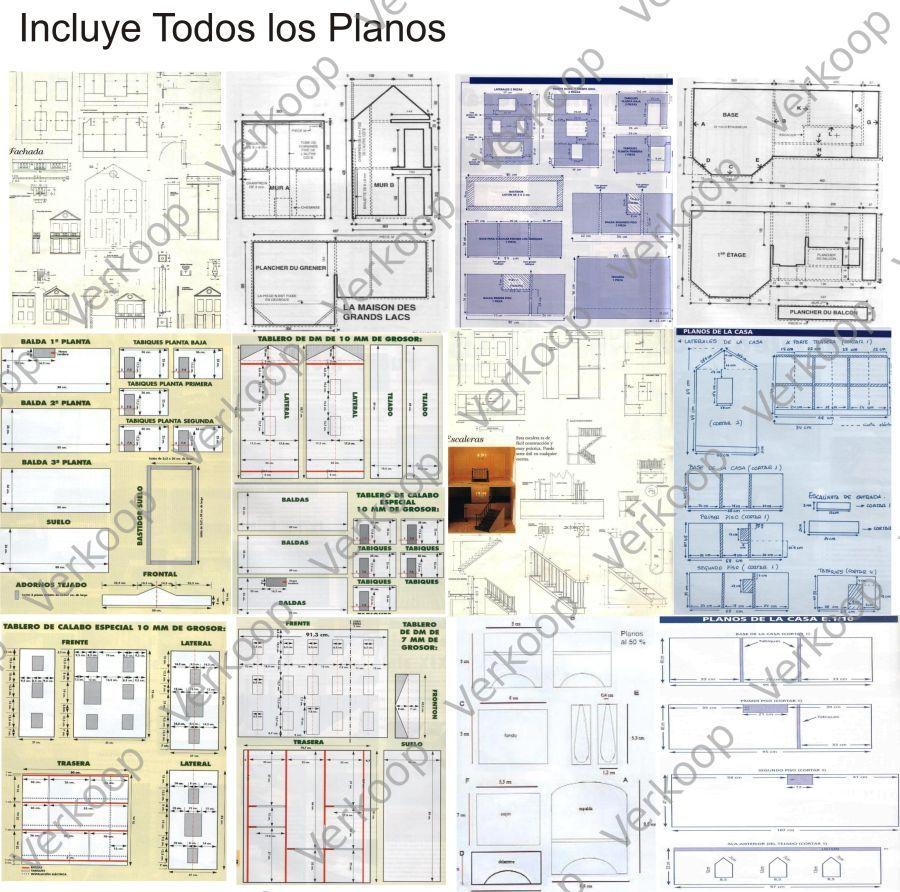 Casas para mu ecas miniaturas especial planos for Construccion de muebles de madera pdf