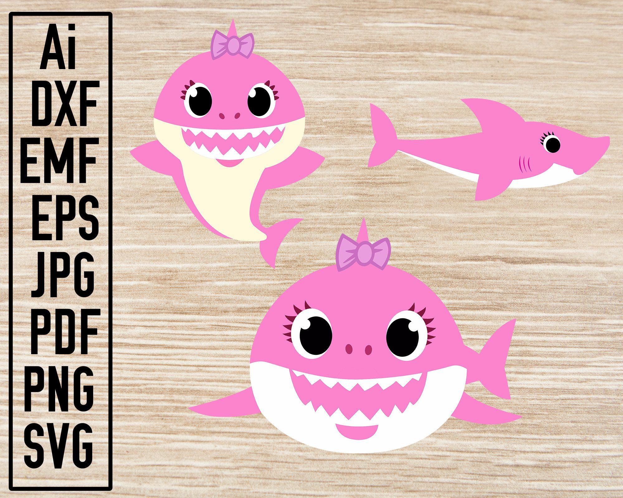 Sister Shark Full Bundle, Sister Shark SVG, Baby Shark Art