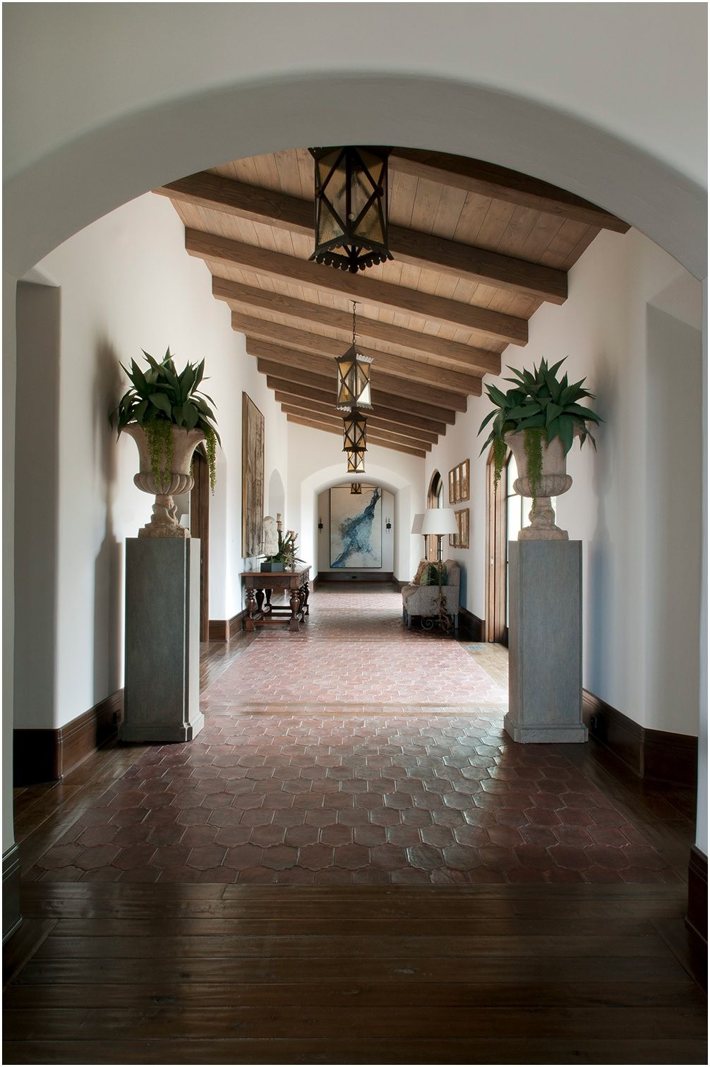 This is the color of the wood ceiling that i was thinking for Spanish style interior design