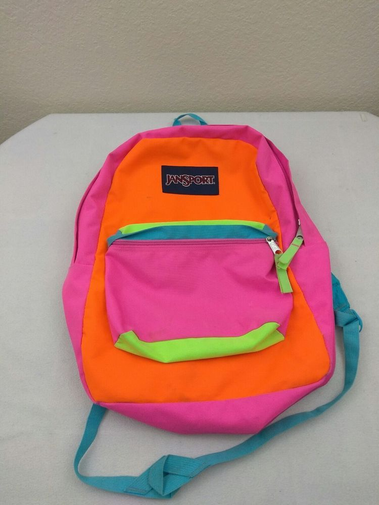 d0ccad2fd JanSport SuperBreak Backpack Fluorescent Pink Blue Orange Neon ColorBlock # JanSport #Backpack