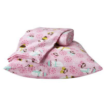 Circo Snowman Flannel Sheet Set   Pink (Twin). Find Bed Sheets At Target