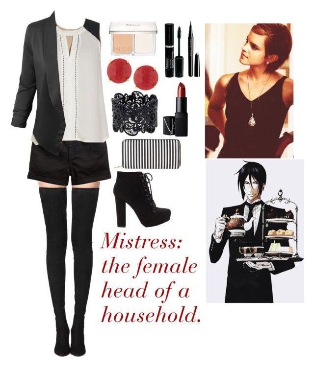 """His Mistress: Proper Fashionista"" by charbear231 ❤ liked on Polyvore featuring Christian Dior, Marc Jacobs, Tamara Mellon, LE3NO, Panacea, New Look and NARS Cosmetics"