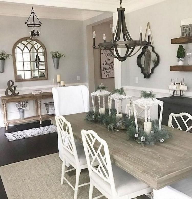 Dining Room Grey Wall Decor Ideas