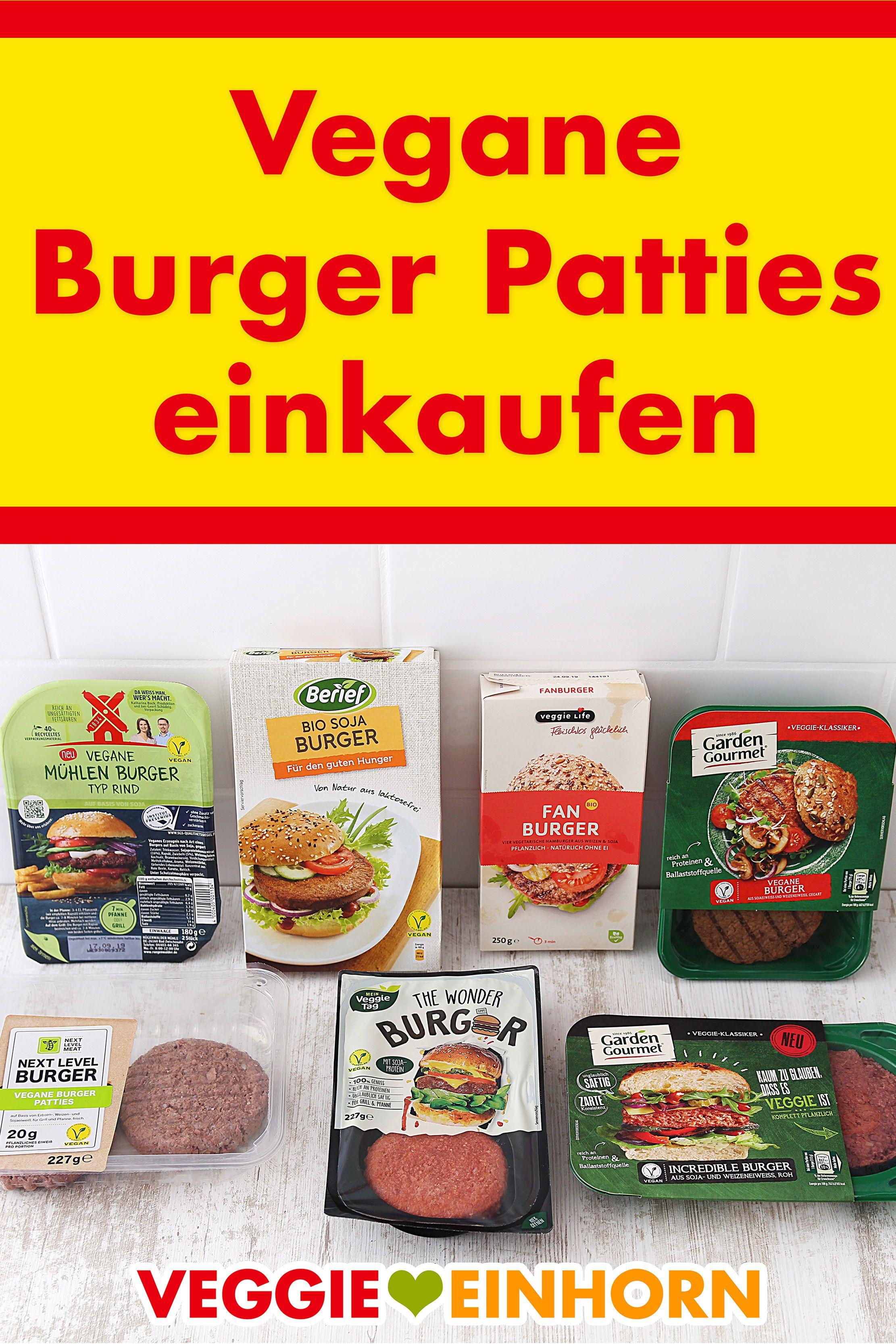 Vegane Burger Patties aus dem Supermarkt  Vegane lebensmittel
