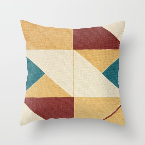 Geometric Thoughts 10 Throw Pillow