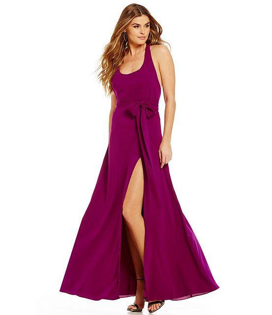 Jill Jill Stuart Racer T-Back Gown