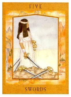 five of swords -  Goddess Tarot
