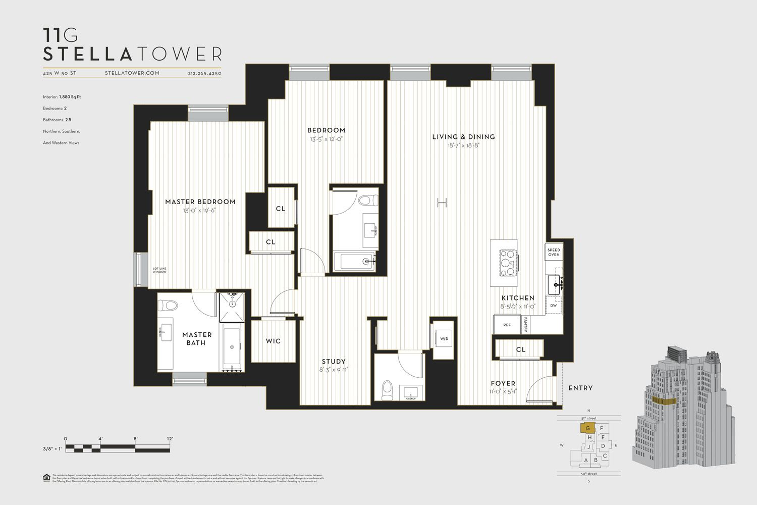 Stella Tower At 425 West 50th Street Jds Development Group Floor Plans Entry Foyer Tower