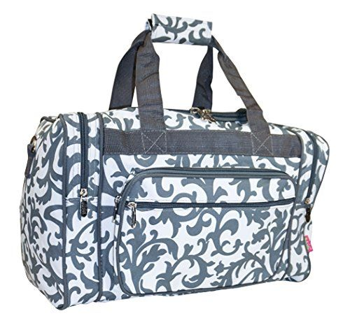 Ngil Travel Duffel Bag Damask Grey 23inch Gt Gt Gt To View