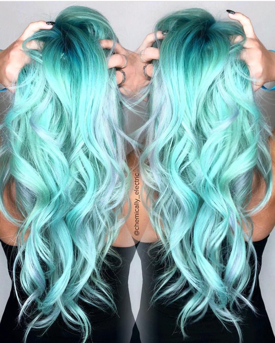 Hairstylesbeauty Aqua Hair Color Hair Color Pastel Hair Styles