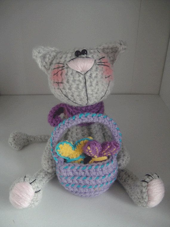 2 patterns PDF - crochet bunny + crochet cat !!! Only 7euro ...