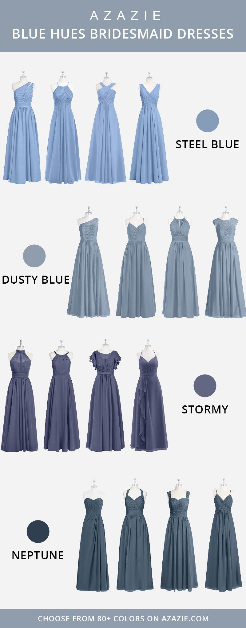 Blue Hues Bridesmaid Dresses Steel Blue Bridesmaid Dresses Dusty Blue Bridesmaid Dresses Bridesmaid Dresses [ 2037 x 800 Pixel ]