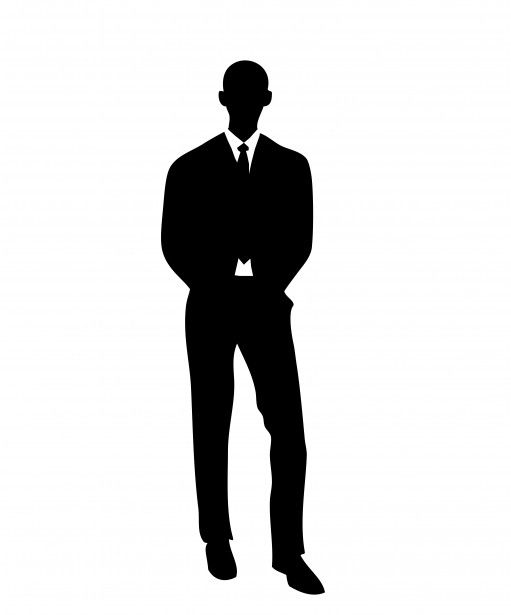 Man In Suit Silhouette to go with expansion of the mind J346