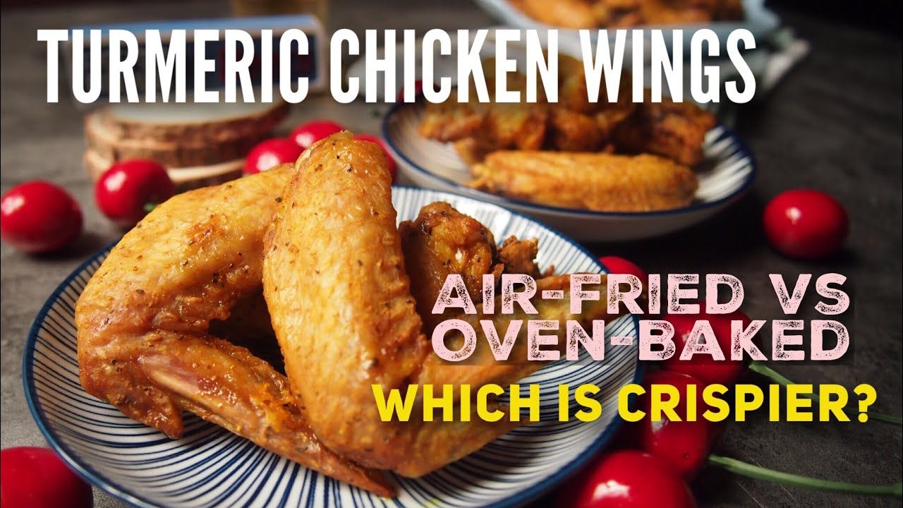 AIRFRIED VS OVENBAKED CRUNCHY FRIED CHICKEN! Turmeric