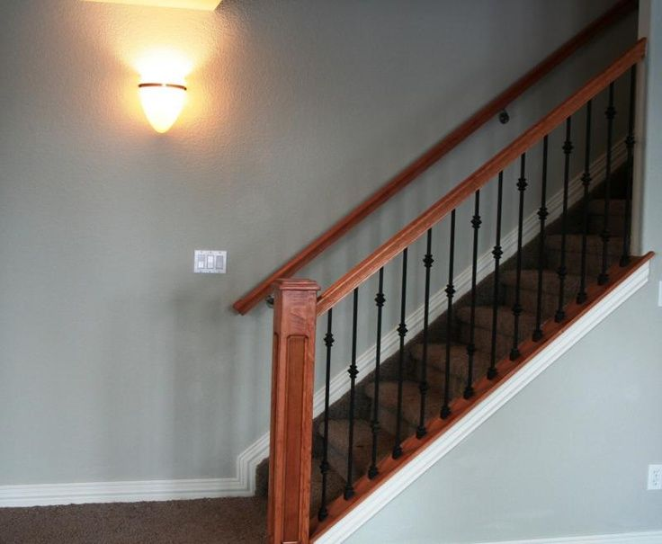 open basement stairs | Basement stair railing to open it ...