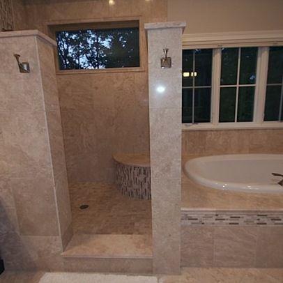 Doorless showers design ideas pictures remodel and - Doorless shower in small bathroom ...