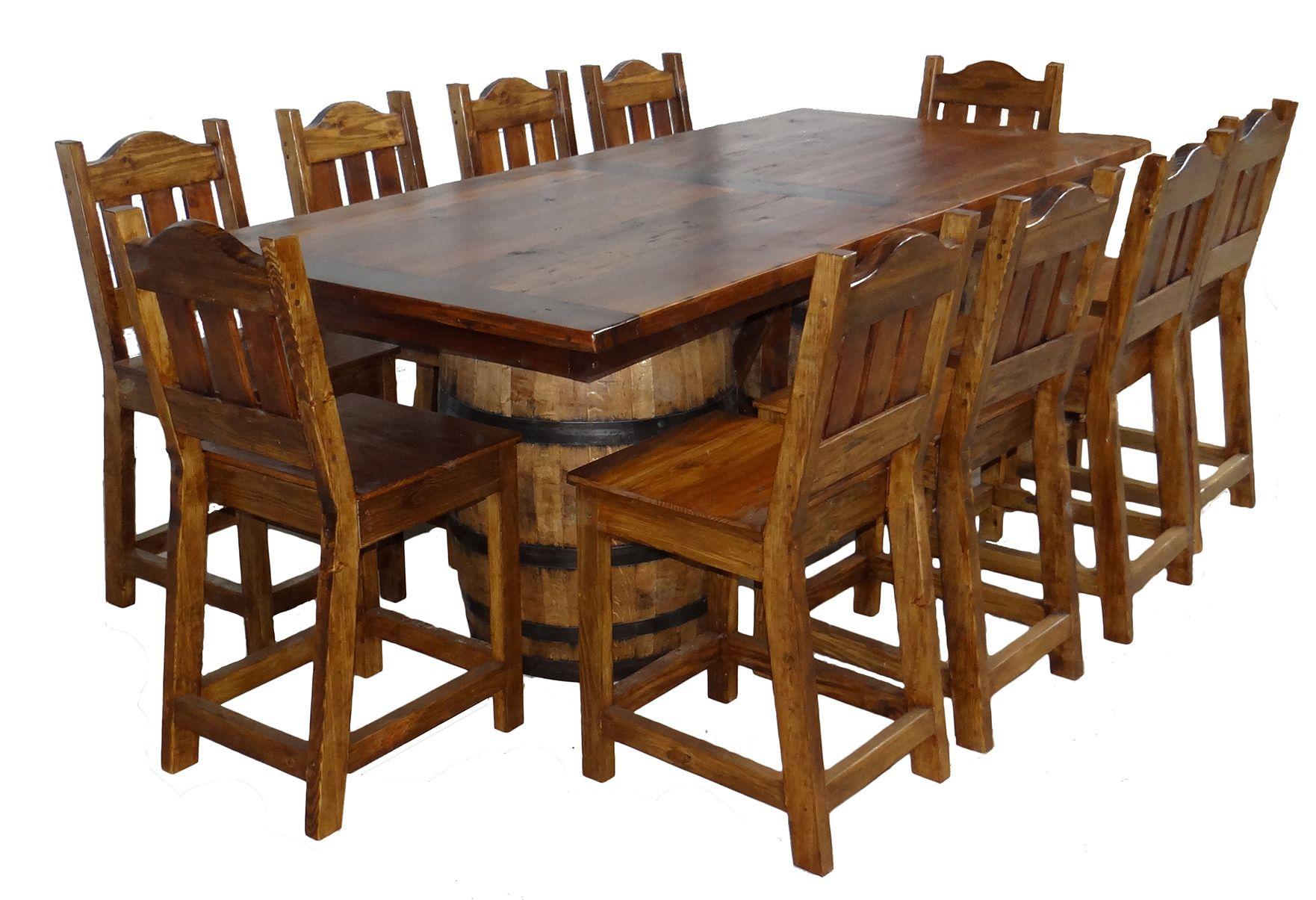 Wine Barrel Table Custom Rustic