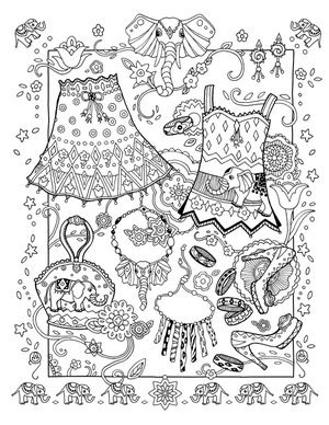 Elegant Elephants Adult Coloring PagesColoring BooksBarbie
