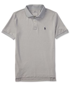 Ralph Lauren Stretch Jersey Polo Shirt, Big Boys (8-20) - Gray XL