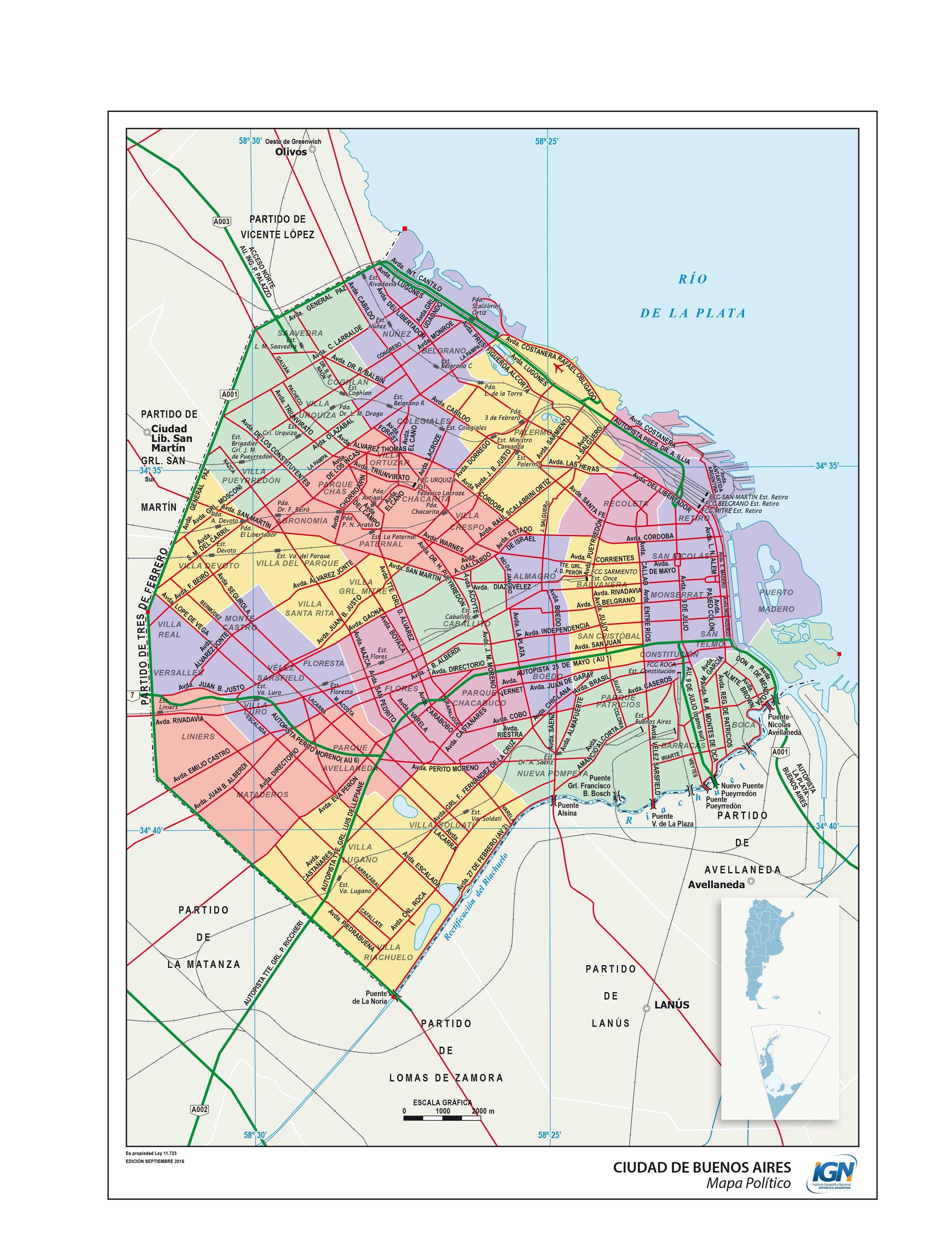 Mapa político de la Ciudad Autónoma de Buenos Aires - Instituto ...