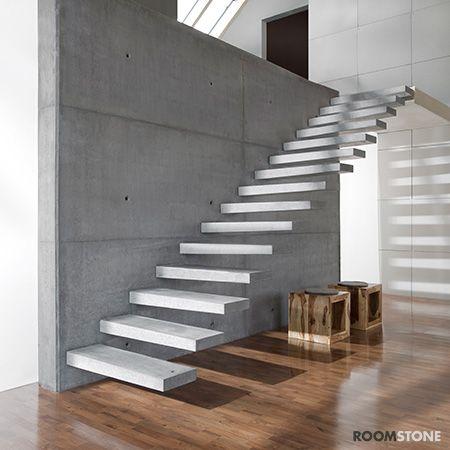 Roomstone   fertigteilstufen aus sichtbeton   beton.org ...