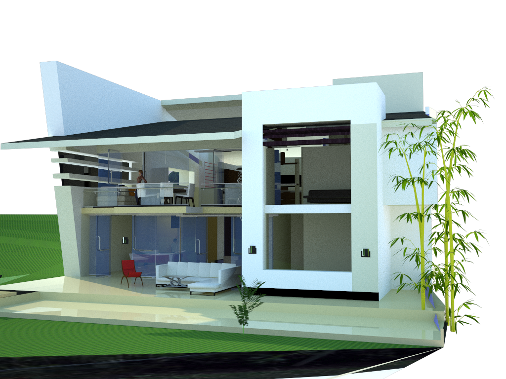 Pin de rommel tuckler en maquetas pinterest casa for Casa minimalista maqueta