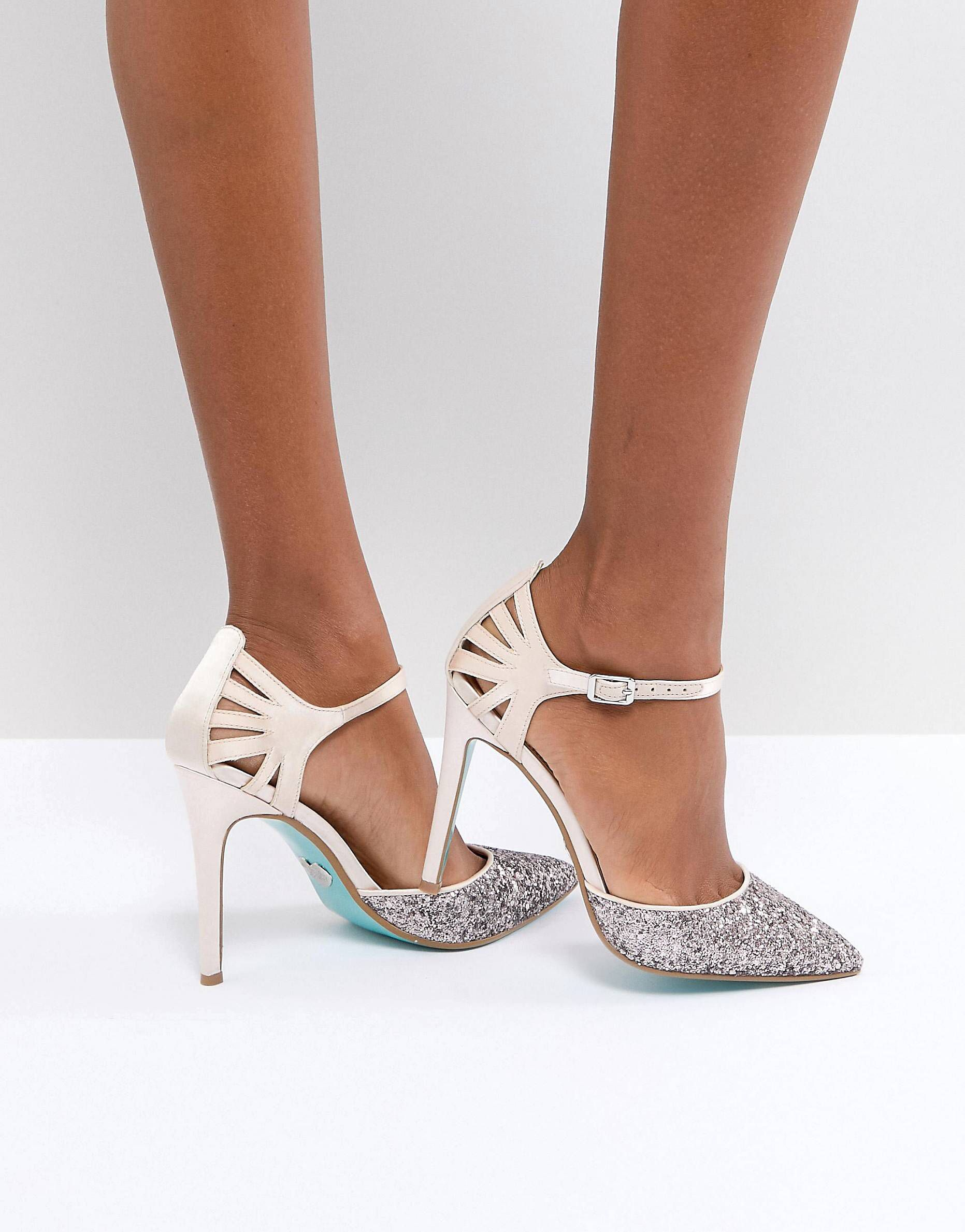 d2bb2ecdda7 Blue By Betsy Johnson Blush Avery Heeled Wedding Shoes in 2019 ...