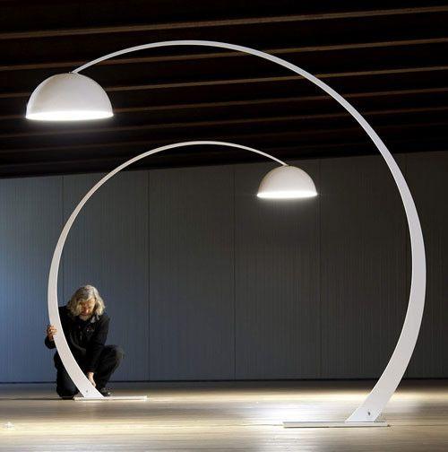 Very Large Italian Made Modern Arc Floor Lamp