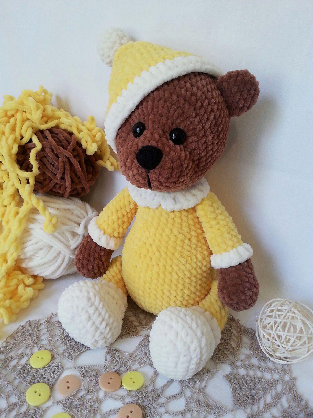 Схема вязания мишки для детей