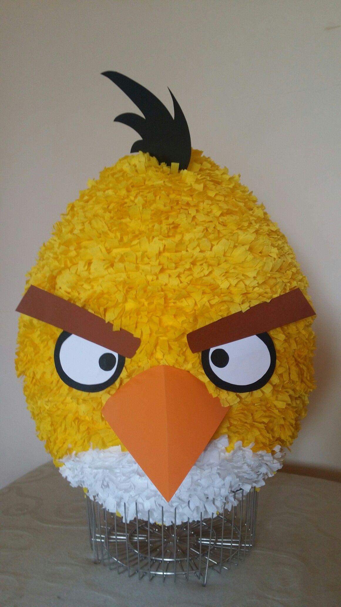 Angrybirds Pinata Yellow Pinatas Pinata Birthdays