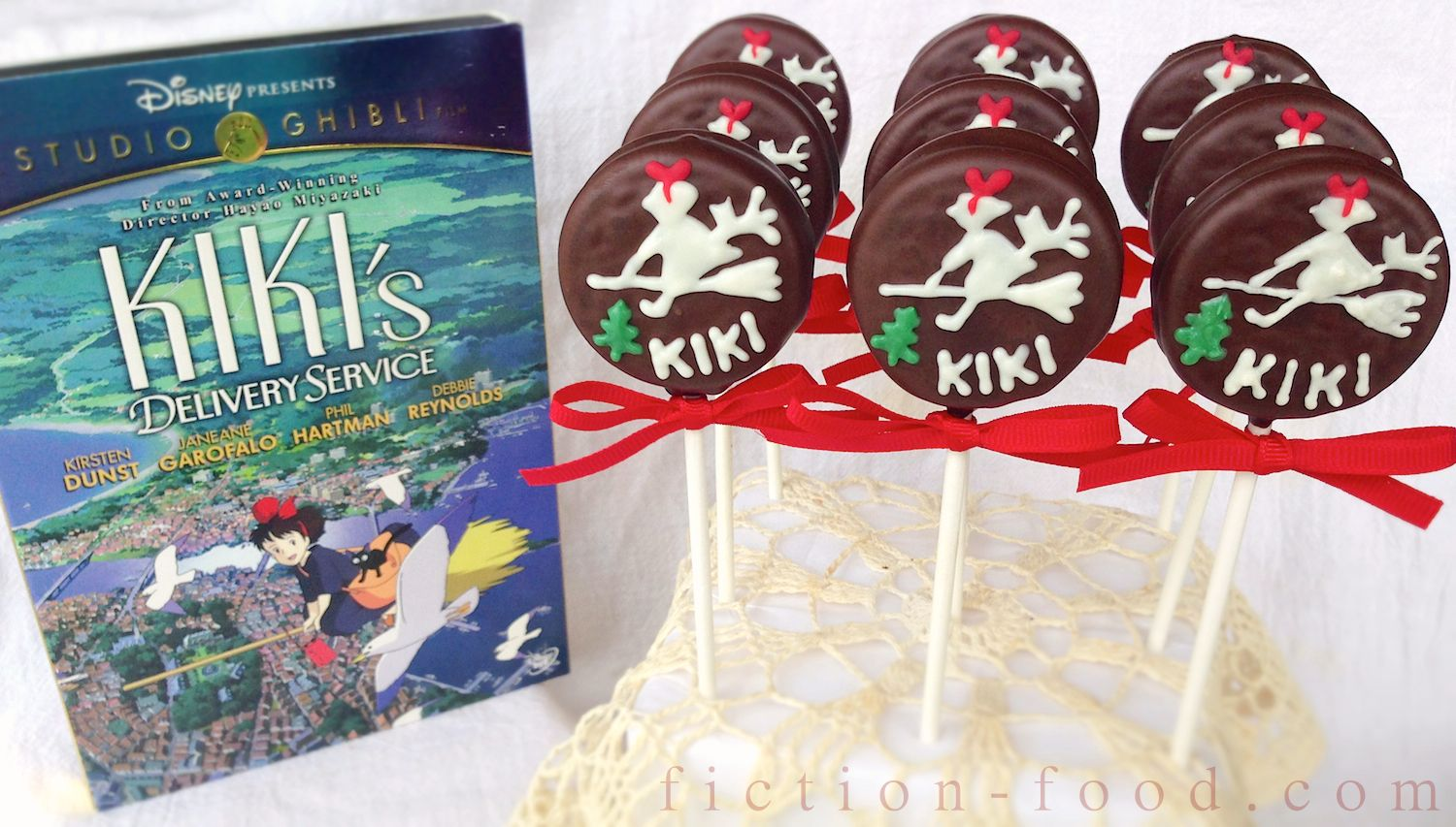 Food Adventures in fiction Kikis Cake Cookie Pops for Kikis