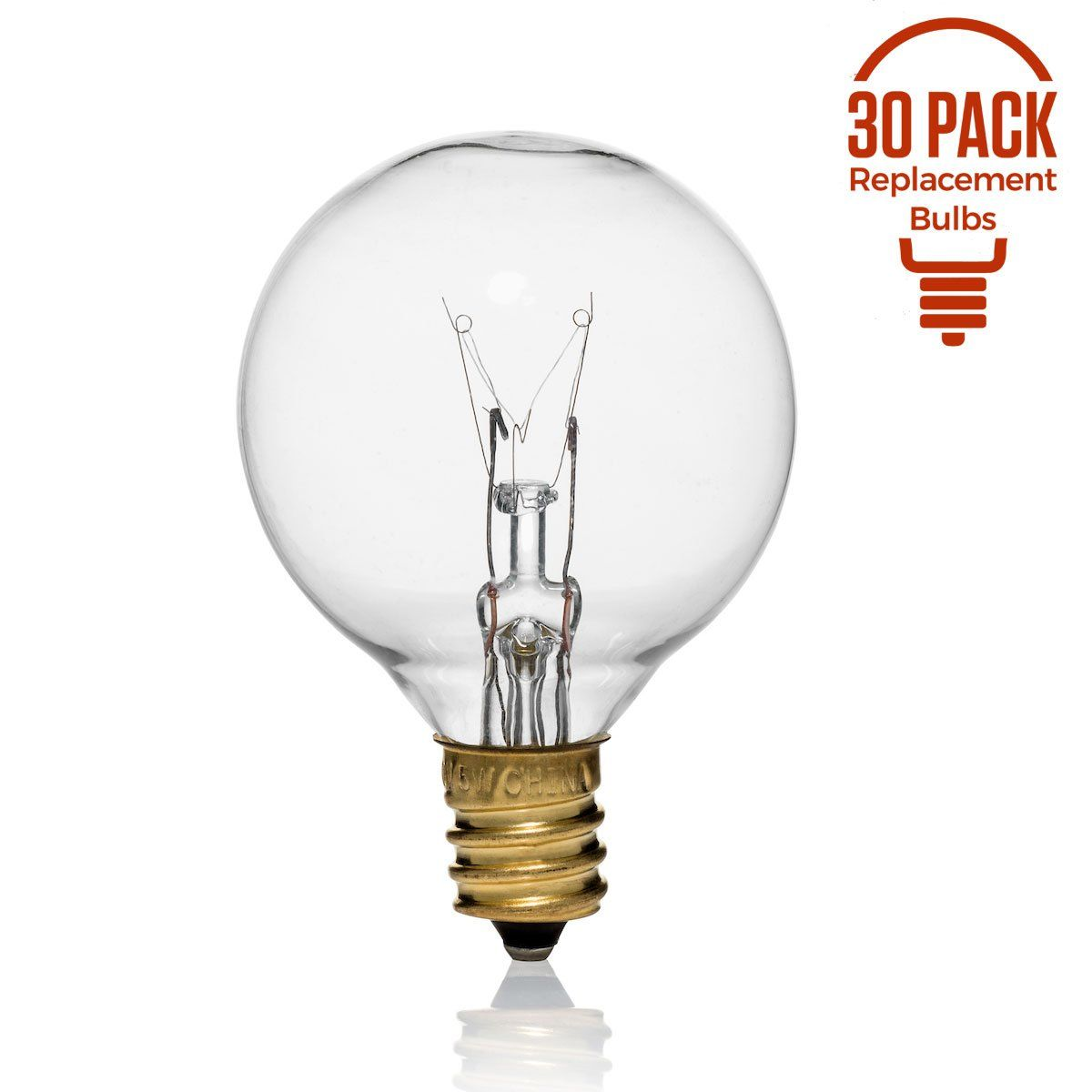 Replacement Bulbs For String Lights Enchanting 30 Pack Of G40 Replacement Bulbs 5 Watt G40 Globe Bulbs For String Decorating Design