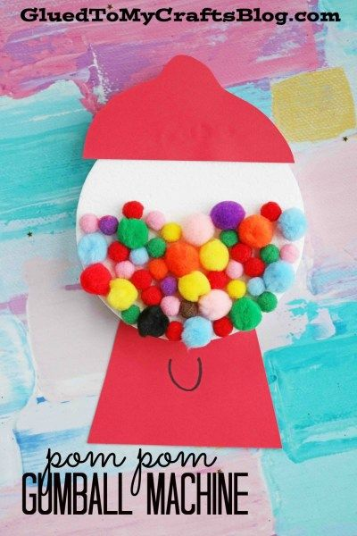 Paper Polka Dot Gumball Machine Kid Craft For Valentine S Day Babysitting Crafts Arts And Crafts For Kids Crafts