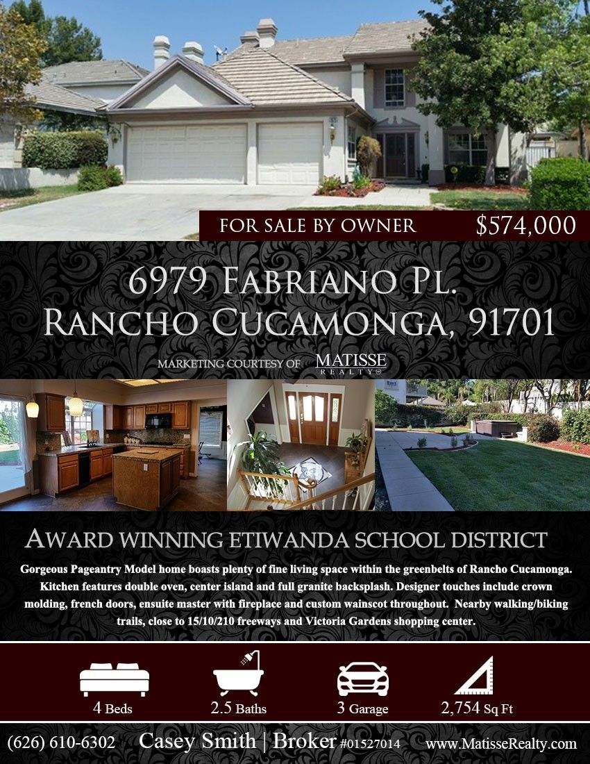 Matisse Realty Hosting An Open House For This For Sale By Owner In Rancho  Cucamonga,