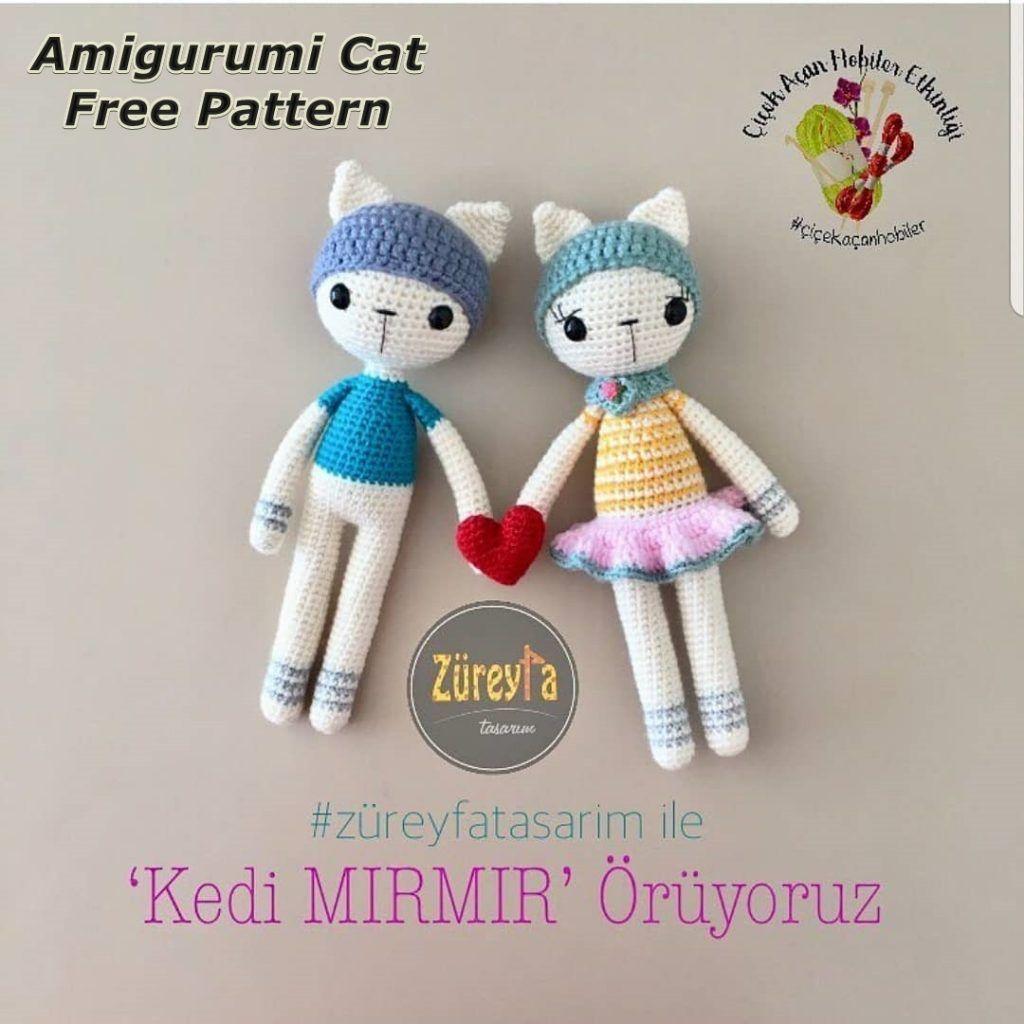 Amigurumi Cat Crochet Pattern Easy Video Tutorial | Crochet cat ... | 1024x1024