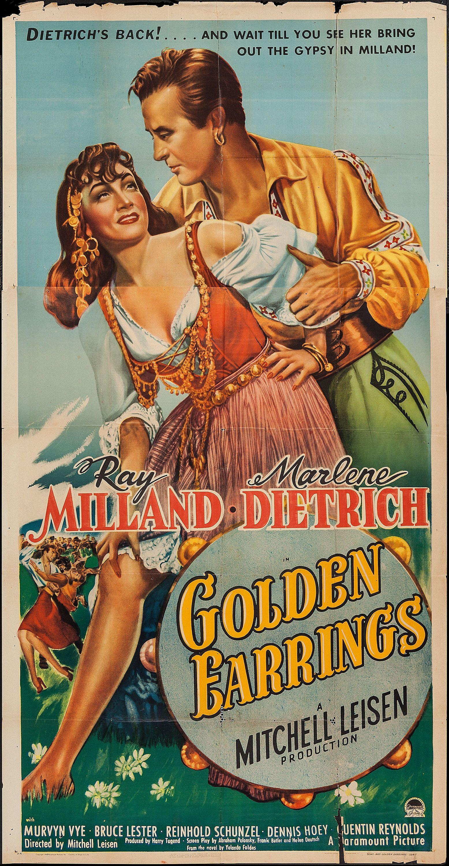 Golden Earrings (paramount, 1947) Three Sheet (41