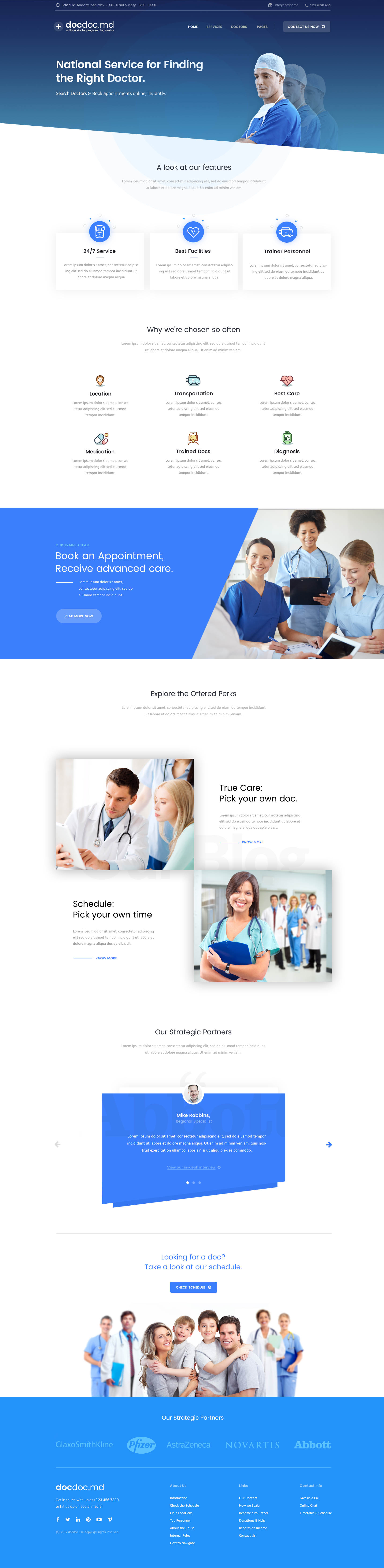 Inner Page Mobile Web Design Medical Projects Web App Design