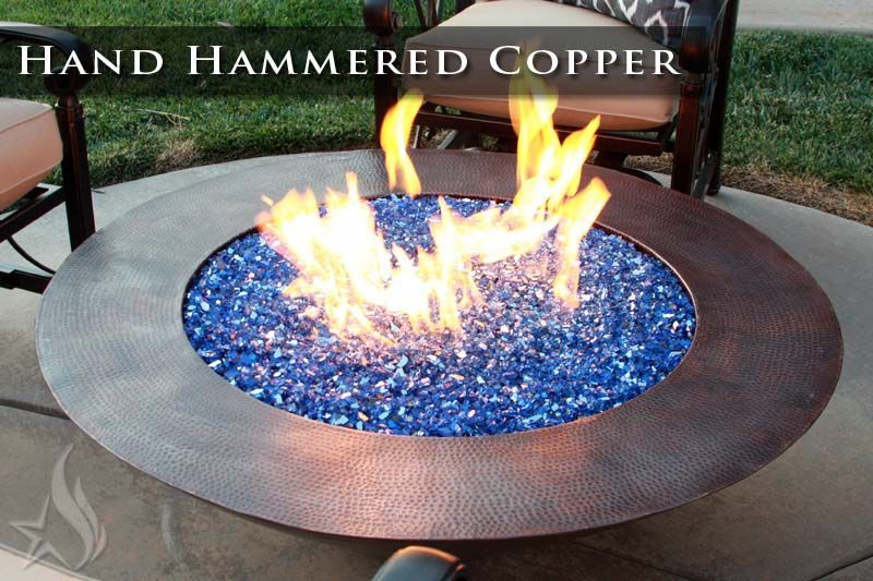 Custom Made 48 Inch Cono Moreno Hand Hammered Copper Fire Pit Copper Fire Pit Fire Pit Materials Modern Fire Pit
