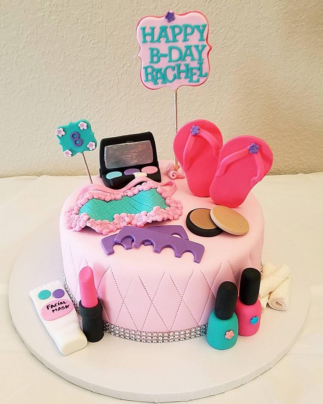 Strange Little Girl Spa Party Rosicakesandbakes Spacake Personalised Birthday Cards Xaembasilily Jamesorg